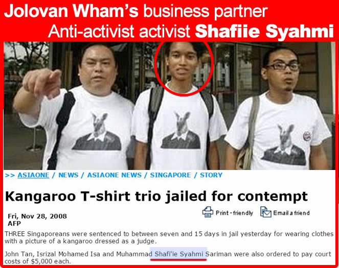 jolovan wham business partners - Anti-activist activist Shafiie Syahmi