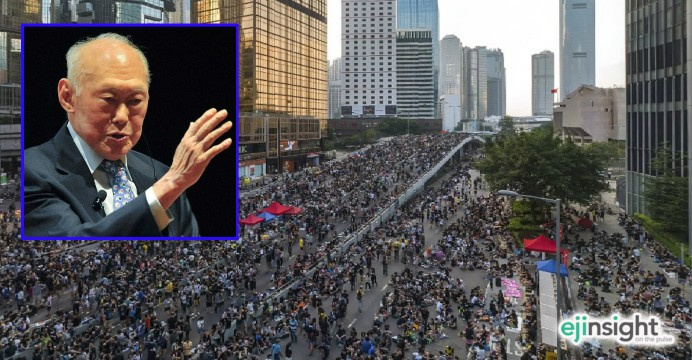 HK may need a little dose of authoritarianism Lee Kuan Yew-style
