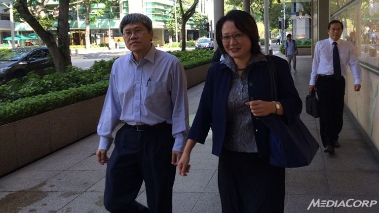 Aljunied-Hougang-Punggol East Town Council chairperson Sylvia Lim at the High Court. (Photo: Calvin Oh) Source - CNA