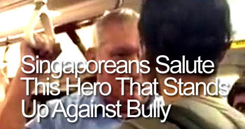 Singapore Hero - Singaporeans Salute This Hero That Stands Up Against Bully