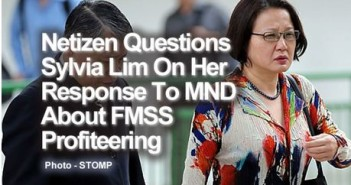 Netizen Questions Sylvia Lim On Her Response To MND About FMSS Profiteering