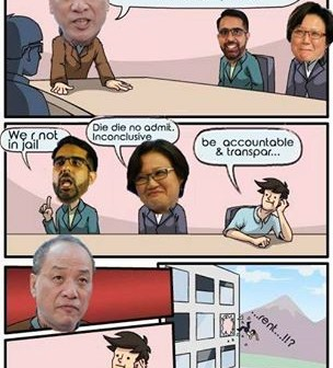 This is what happen at the workers' party HQ. Source - Fabrication about the PAP