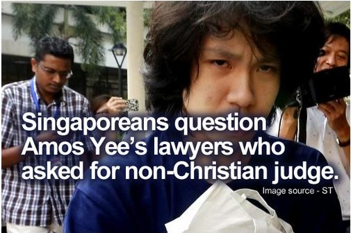 Singaporeans question Amos Yee's lawyers who asked for non-Christian judge.