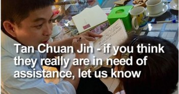 Tan Chuan Jin - if you think they really are in need of assistance, let us know