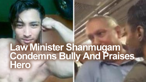 Law Minister Shanmugam Condemns Bully And Praises Hero