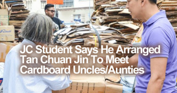 JC Student Says He Arranged Tan Chuan Jin To Meet Cardboard Uncles/Aunties