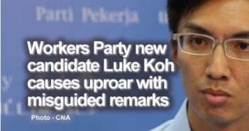 Workers Party new candidate Luke Koh causes uproar with misguided remarks