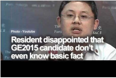Resident disappointed that GE2015 candidate don't even know basic fact