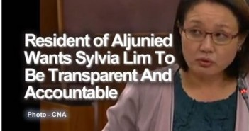Resident of Aljunied Wants Sylvia Lim To Be Transparent And Accountable