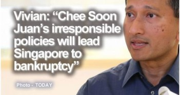 """Vivian: """"Chee Soon Juan irresponsible policies will lead Singapore to bankruptcy"""""""