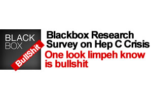 Blackbox Research Survey on Hep C Crisis - One look limpeh know is bullshit