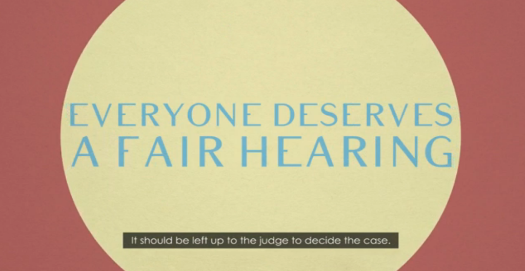 Everyone deserves a fair hearing
